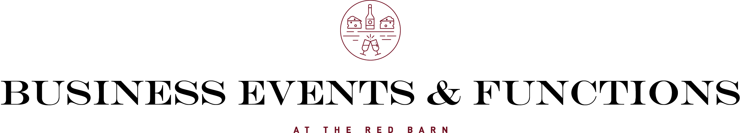 The Red Barn Brands-Red-Black-Engravers Font Business Events  Functions Logo